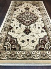 Modern/traditional Aprox 4x2 60cm x110cm New Rugs Woven Hand Carved ivory/red.